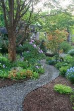 70 Magical Side Yard And Backyard Gravel Garden Design Ideas (48)