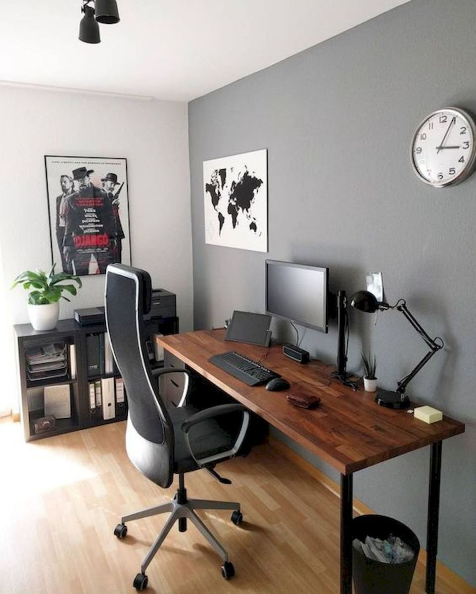 55 Incredible DIY Office Desk Design Ideas and Decor (17)