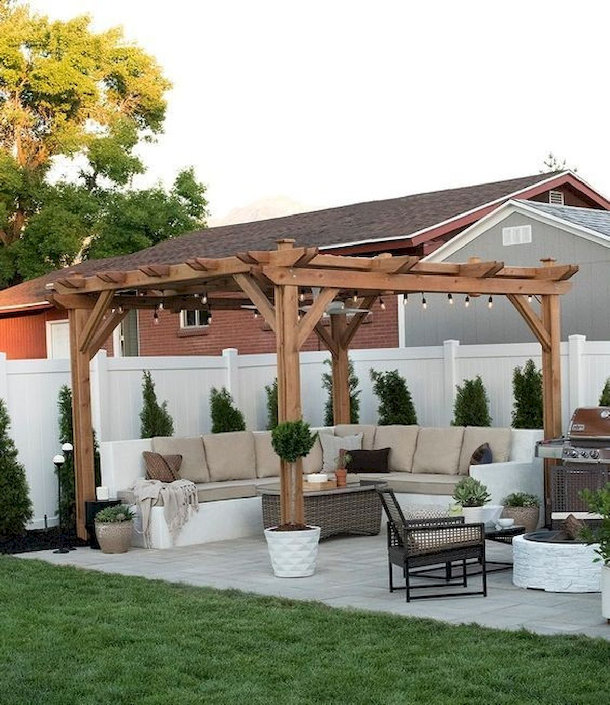 55 Wonderful Pergola Patio Design Ideas - Googodecor on Patios Designs  id=28809
