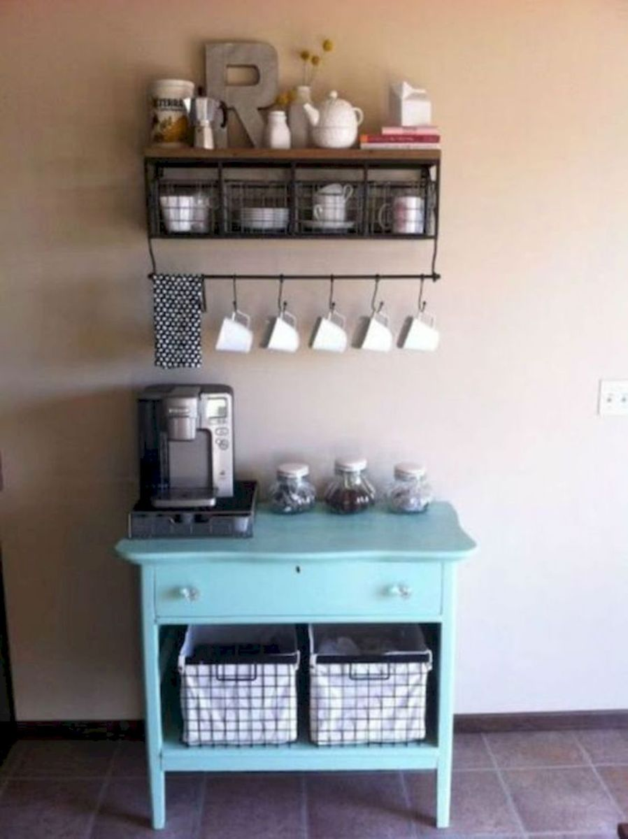 60 Suprising Mini Coffee Bar Ideas for Your Home (1)