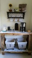 60 Suprising Mini Coffee Bar Ideas for Your Home (10)