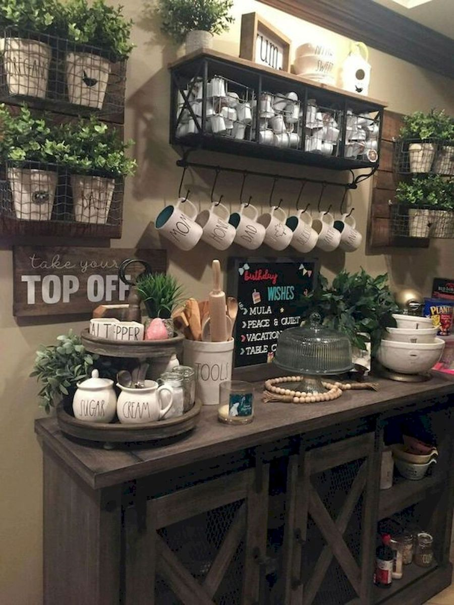 60 Suprising Mini Coffee Bar Ideas for Your Home (15)