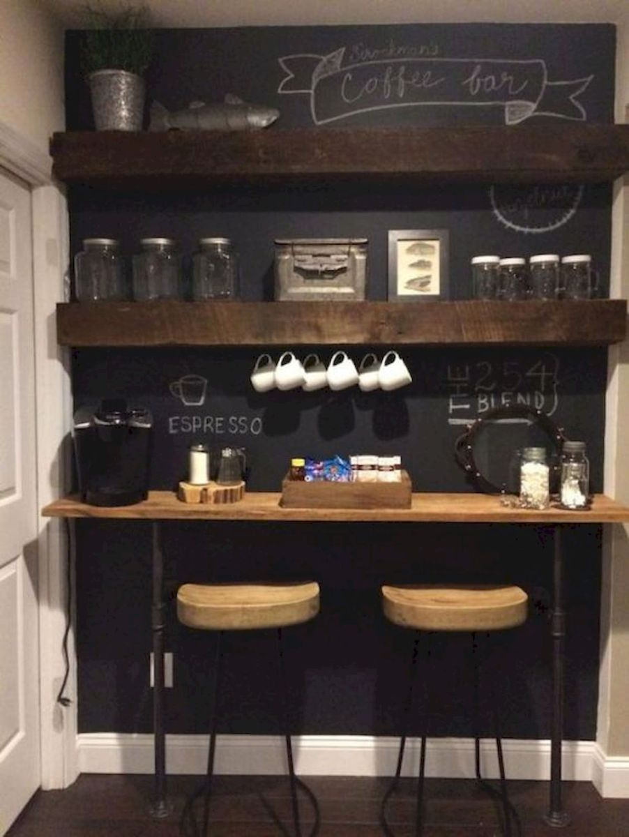 60 Suprising Mini Coffee Bar Ideas for Your Home (20)