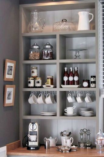 60 Suprising Mini Coffee Bar Ideas for Your Home (25)