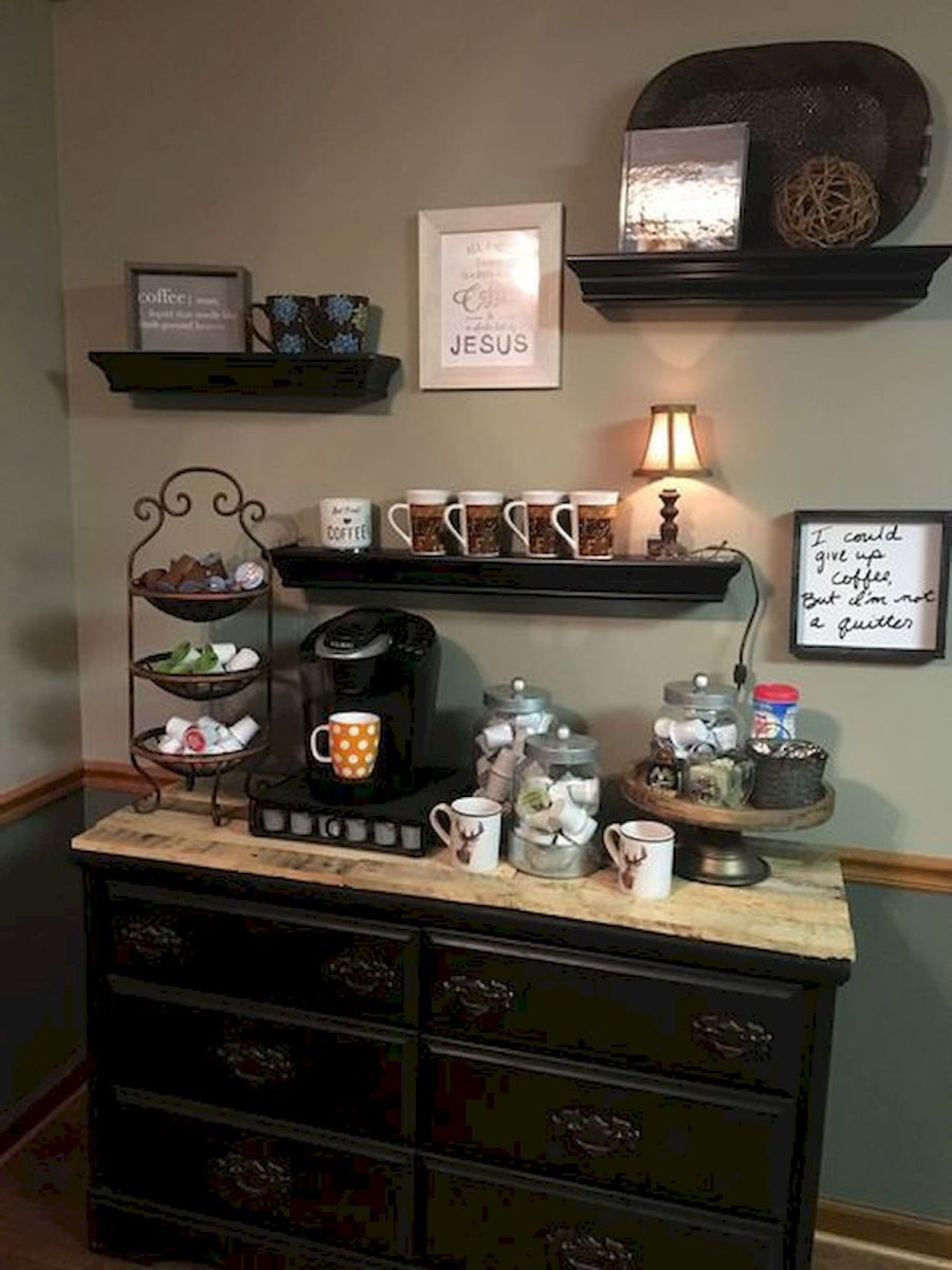 60 Suprising Mini Coffee Bar Ideas for Your Home (3)