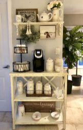 60 Suprising Mini Coffee Bar Ideas for Your Home (43)