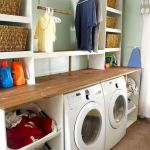 75 Awesome Laundry Room Storage Decor Ideas (51)