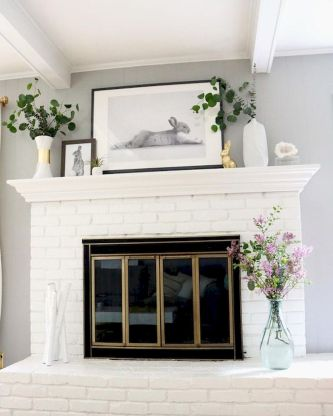 37 Beautiful Easter Fireplace Mantle Ideas (33)