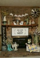 37 Beautiful Easter Fireplace Mantle Ideas (4)