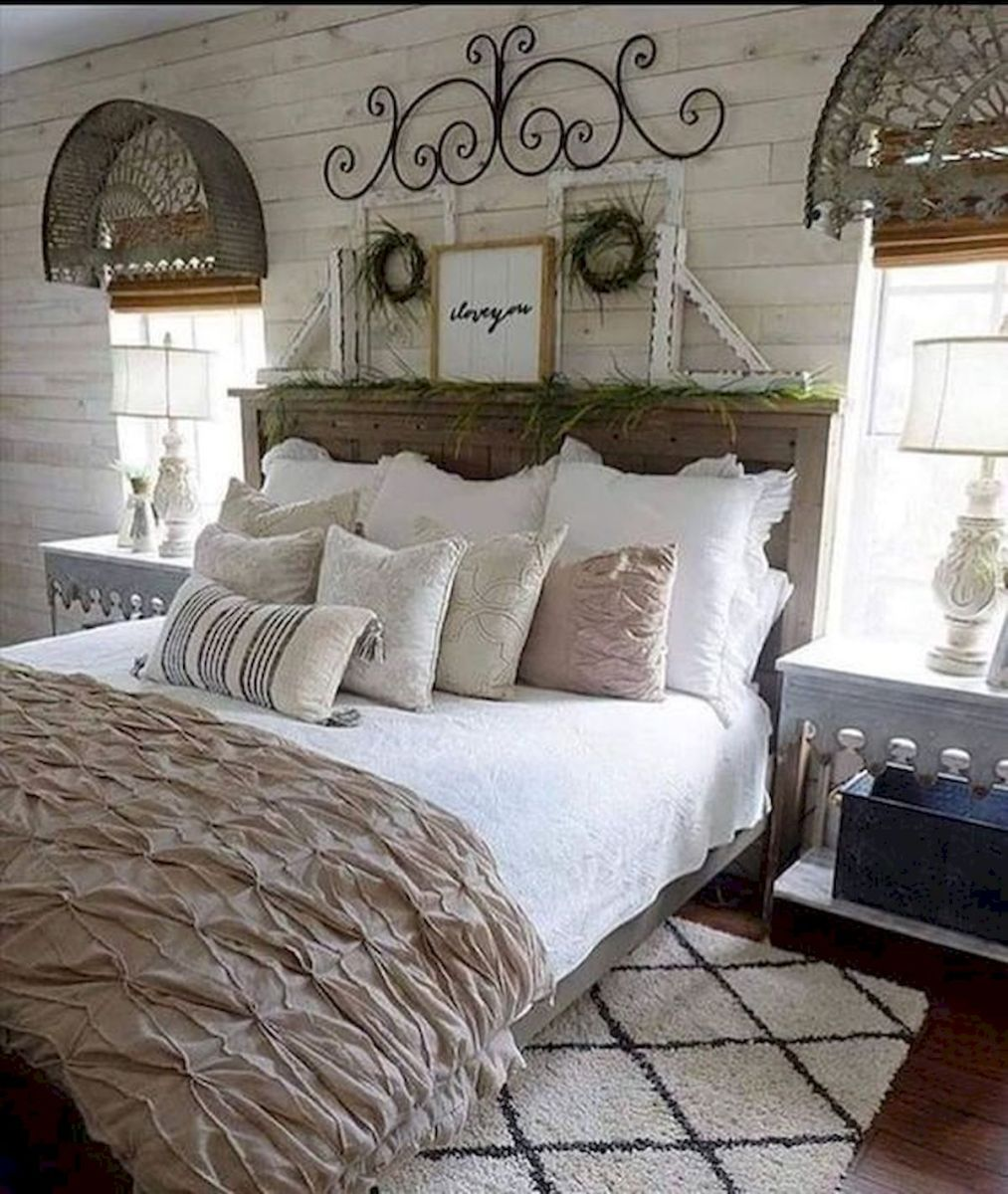 47 Most Popular Bedding for Farmhouse Bedroom Design Ideas and Decor (10)