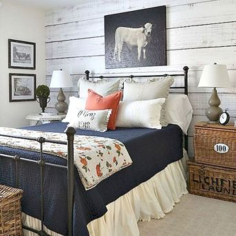 47 Most Popular Bedding for Farmhouse Bedroom Design Ideas and Decor (11)