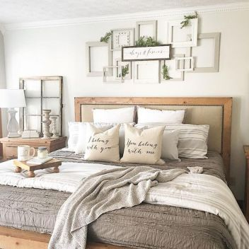 47 Most Popular Bedding for Farmhouse Bedroom Design Ideas and Decor (38)