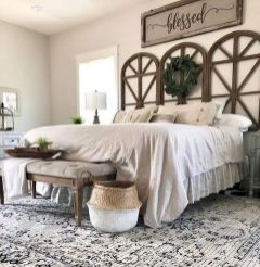 47 Most Popular Bedding for Farmhouse Bedroom Design Ideas and Decor (42)