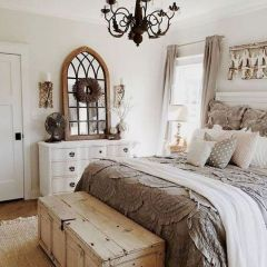 47 Most Popular Bedding for Farmhouse Bedroom Design Ideas and Decor (43)