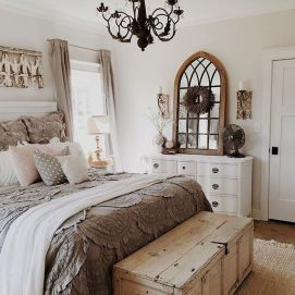 57 Stunning Modern Farmhouse Bedroom Design Ideas and Decor (111)