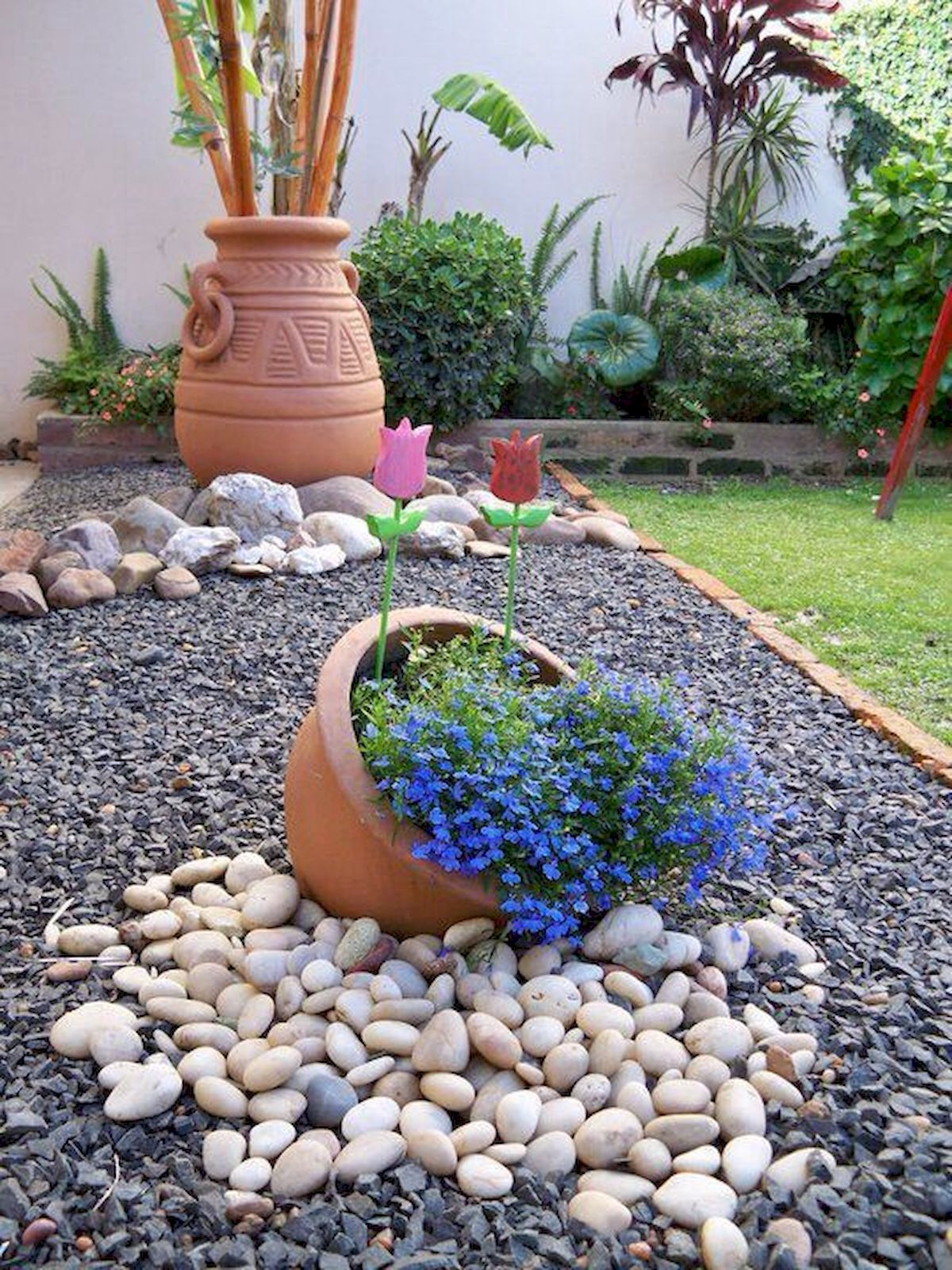 Genius Low Maintenance Rock Garden Design Ideas for ... on Backyard Rocks  id=46565