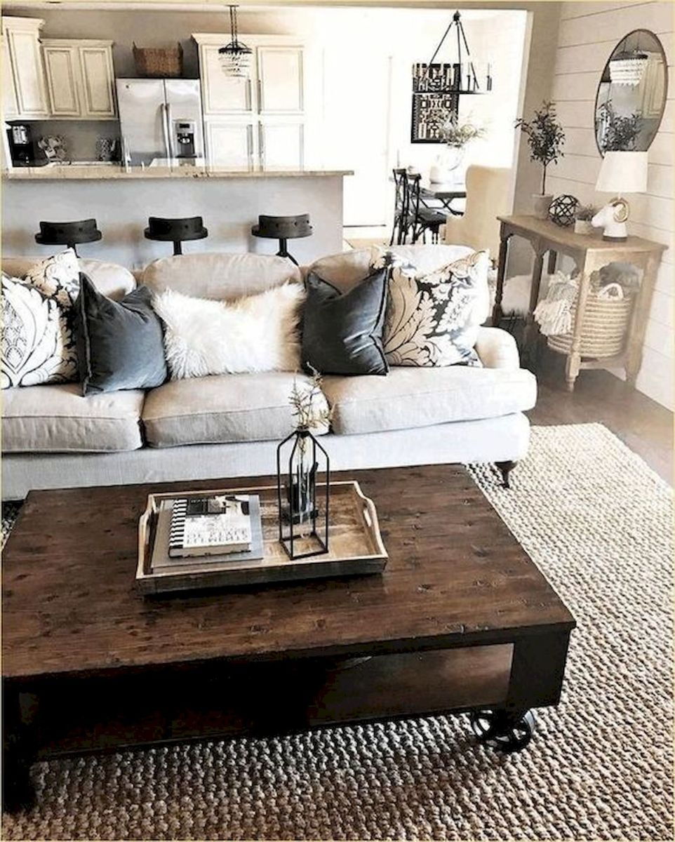 105 Best Farmhouse Living Room Decor Ideas (64)