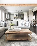 105 Best Farmhouse Living Room Decor Ideas (69)