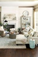 105 Best Farmhouse Living Room Decor Ideas (7)