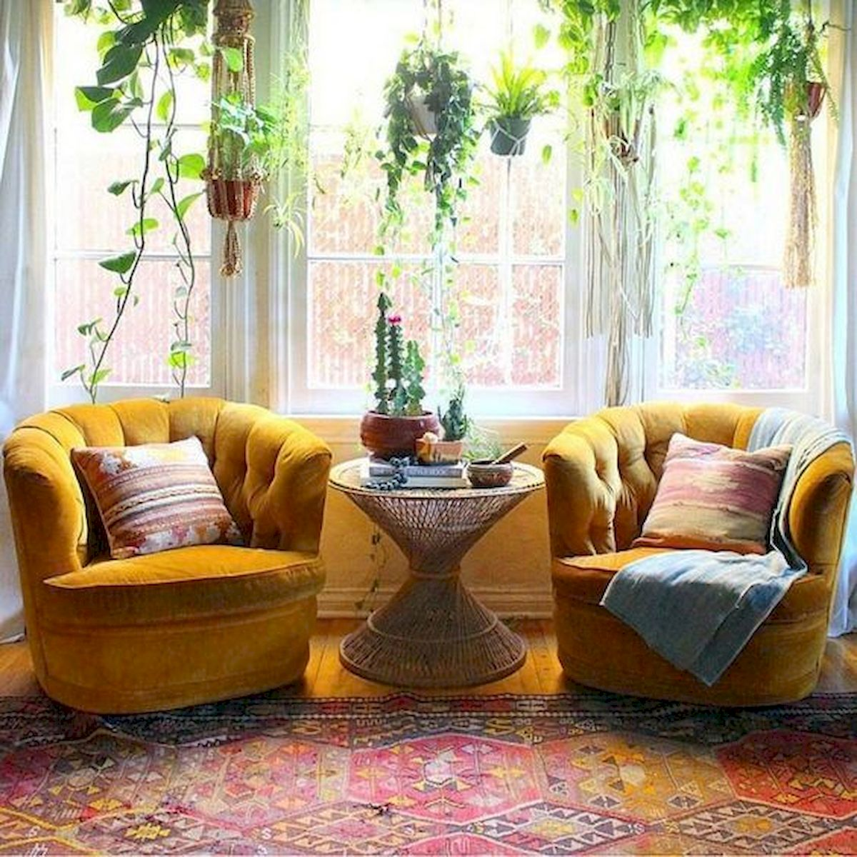55 Bohemian Living Room Decor Ideas (33)