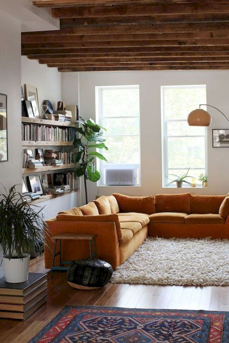 55 Bohemian Living Room Decor Ideas (47)