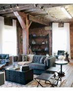 72 Industrial Living Room Decor Ideas (30)