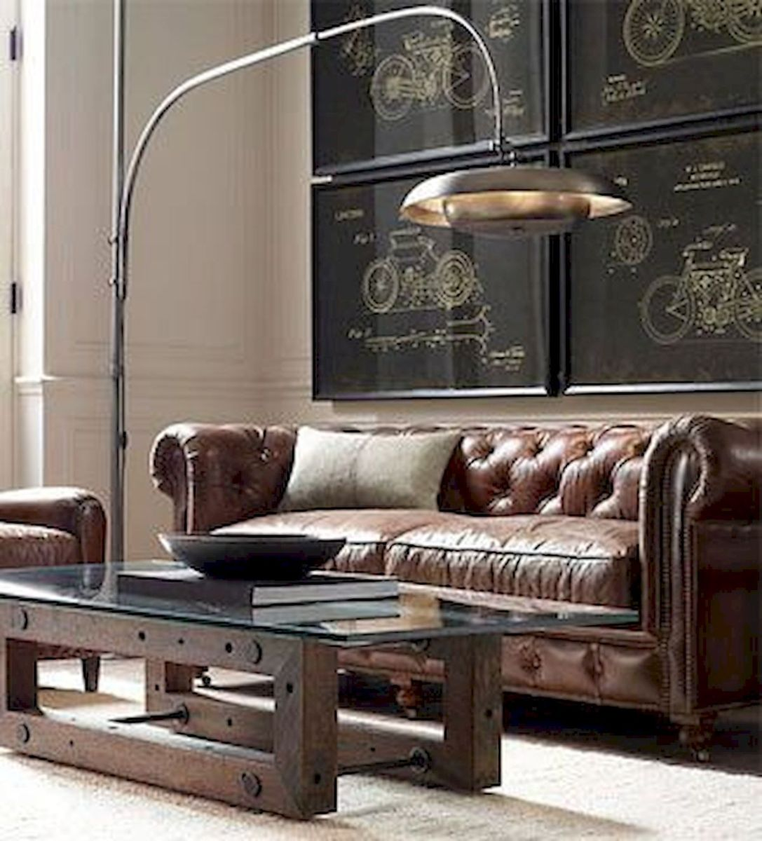 72 Industrial Living Room Decor Ideas (5)
