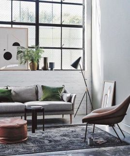 72 Industrial Living Room Decor Ideas (53)