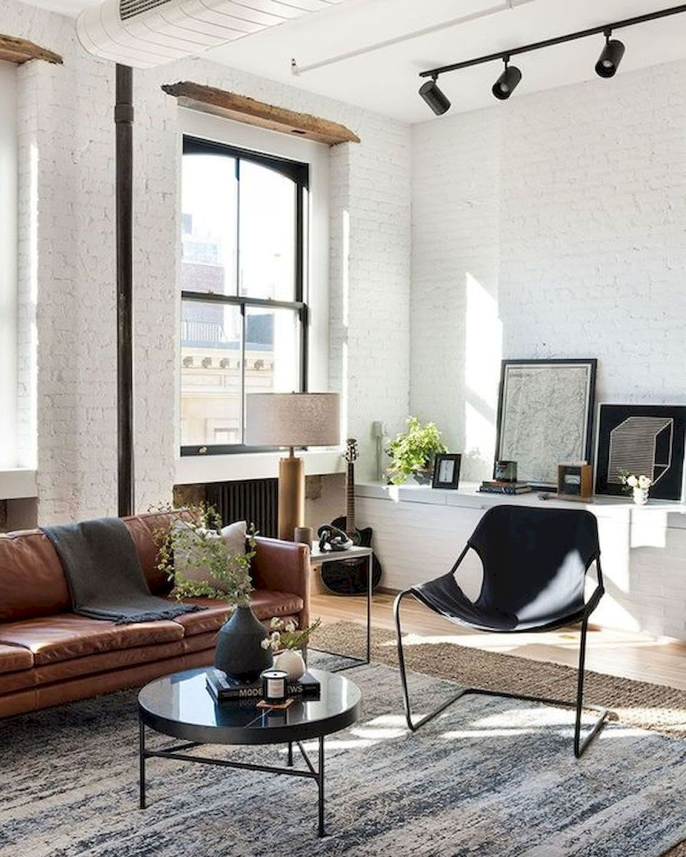 72 Industrial Living Room Decor Ideas (60)