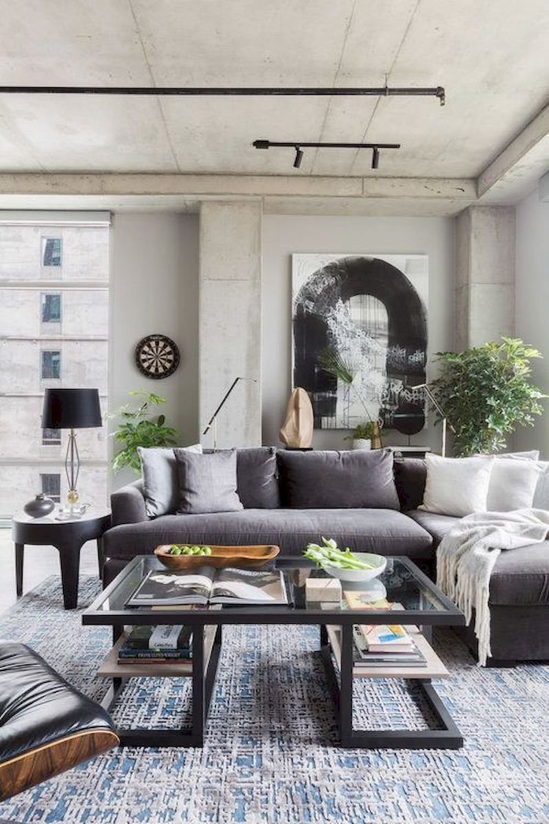 72 Industrial Living Room Decor Ideas (61)