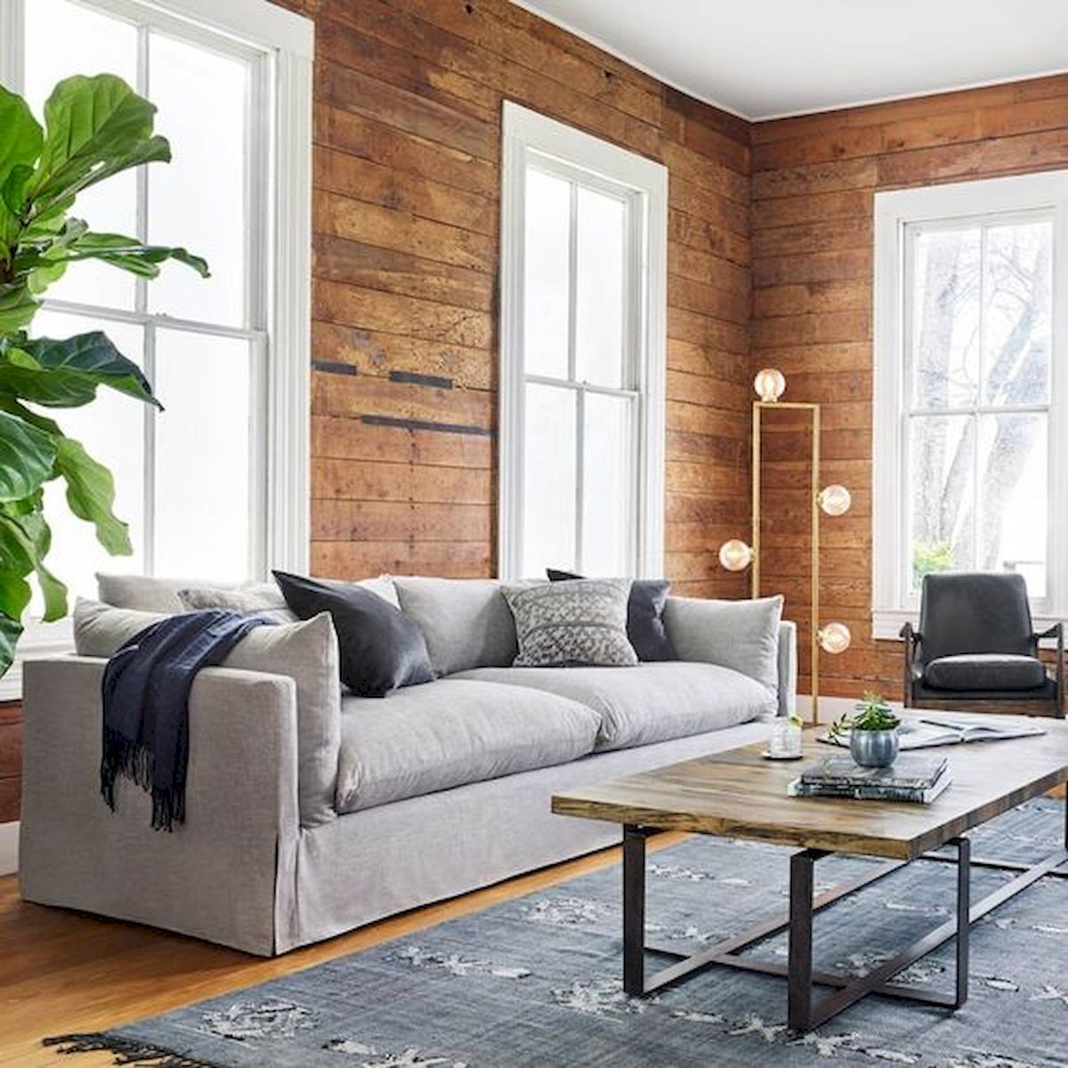 72 Industrial Living Room Decor Ideas (8)