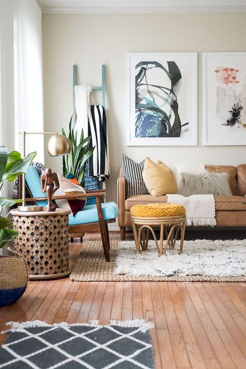 73 Eclectic Living Room Decor Ideas (26)