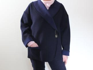 Cardi Navy front