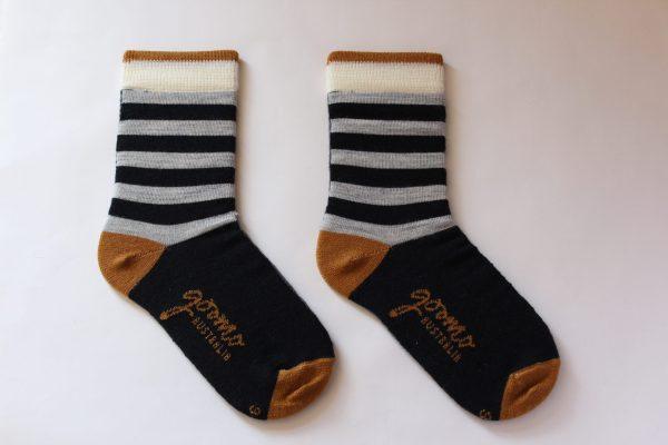 navy grey stripes