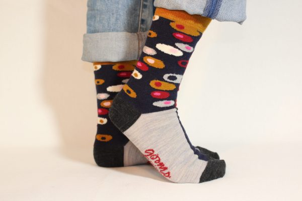 goomo.shop_superfine Australian Merino Egg design socks red