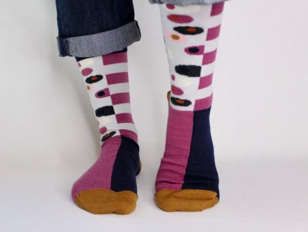 goomo.shop_Egg cerise superfine Australian Merino socks