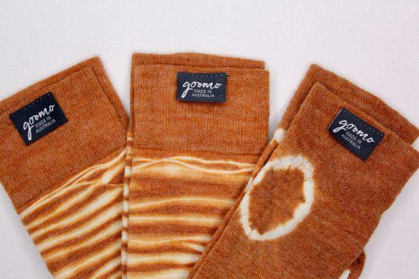 goomo.shop_cinnamon zebra merino socks