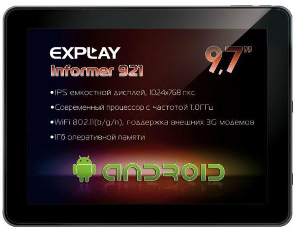 Новый удобный и стильный планшет Explay Informer 921 ...