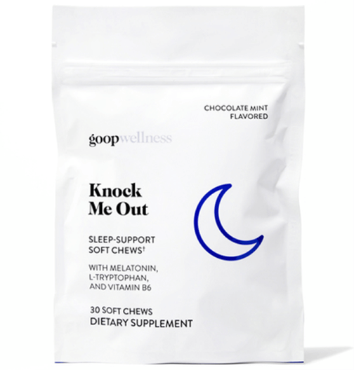 goop Wellness Knock Me Out, goop, $55 for 60 chews/$30 for 30 chews