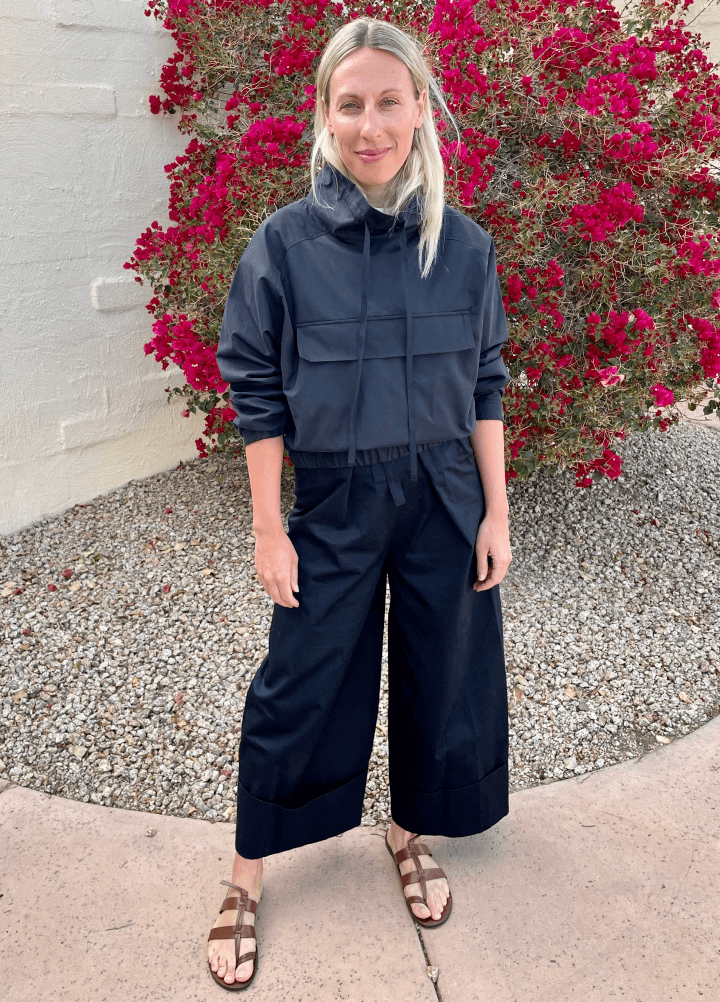 Ali Pew in G. Label Sydney Anorak