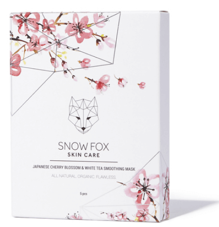 Snow Fox Japanese Cherry Blossom and White Tea Soothing Masks