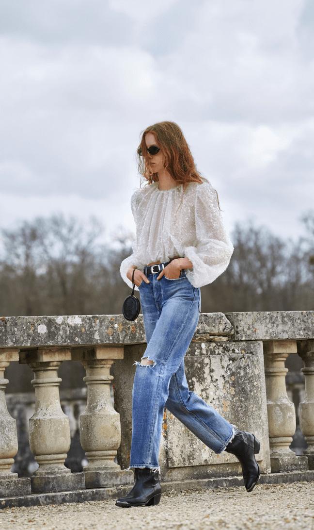 Woman wearing jeans