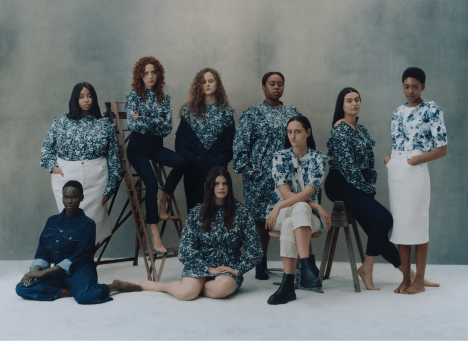 models wearing ERDEM x UNIVERSAL STANDARD products