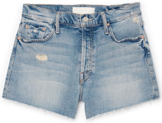 Mother The Tomcat Kick Fray Shorts, goop, $228