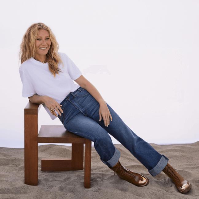 gwyneth paltrow wearing g.label stella oragnic cotton crewneck tshirt