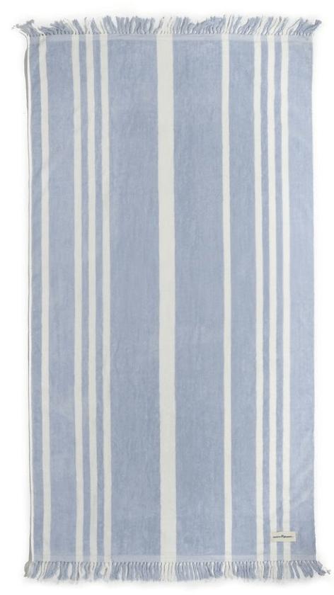 Business & Pleasure Co. The Beach Towel in Vintage Blue Stripe, goop, $69