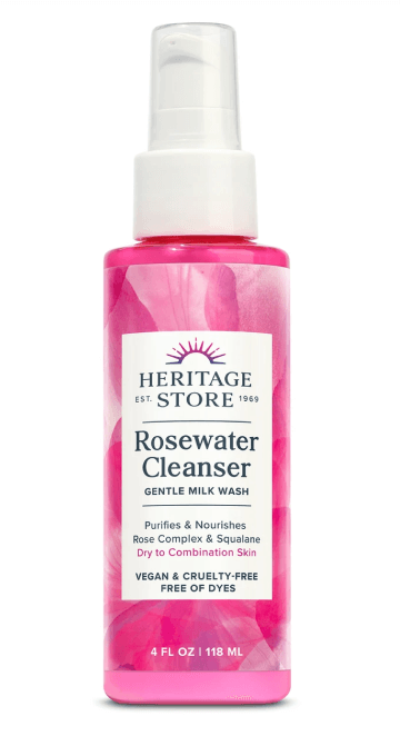 Heritage Store Rosewater Cleanser, $12