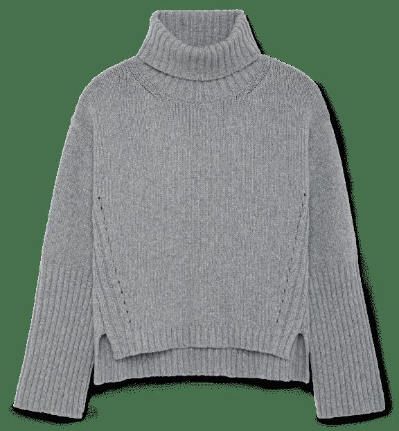 G. LABEL Yang High-Cuff Turtleneck Sweater, goop, $595