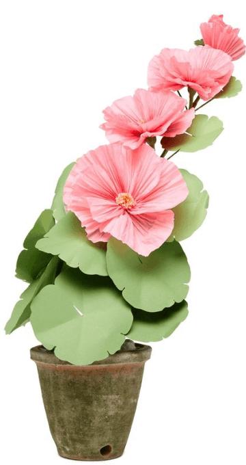The Green Vase Hollyhock Plant, goop, $375