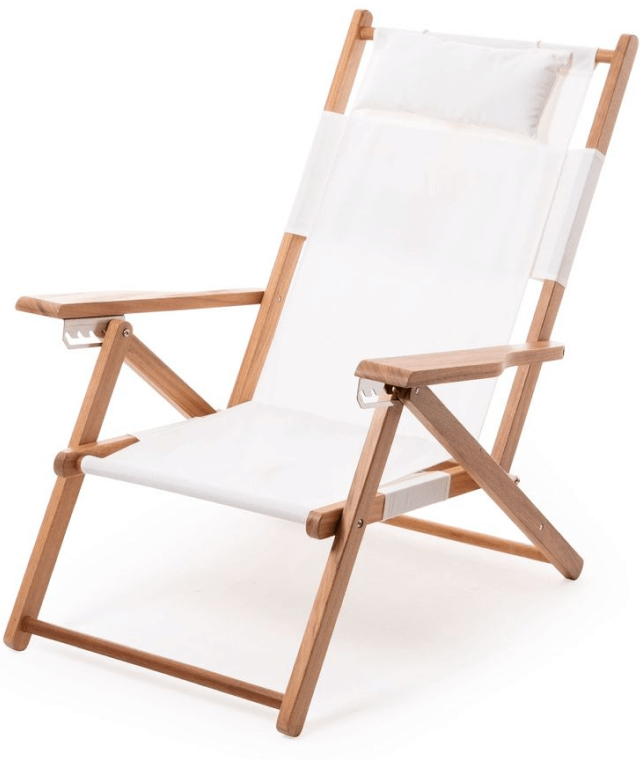 Business & Pleasure Co. The Tommy Chair in Antique White, goop, $249